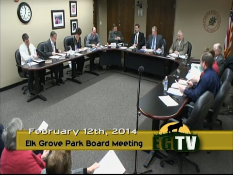 Park Board Meeting - February 12th, 2015