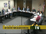 Park Board Meeting - July, 11th, 2013